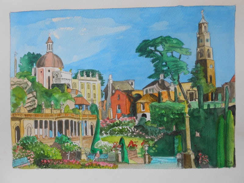 Portmeirion: View from the Piazza
