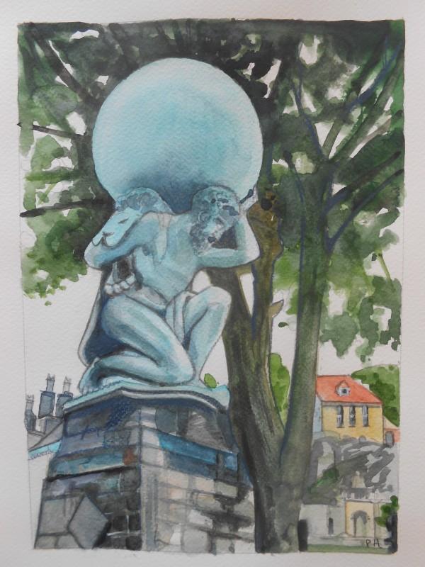 Portmeirion:  Hercules Statue